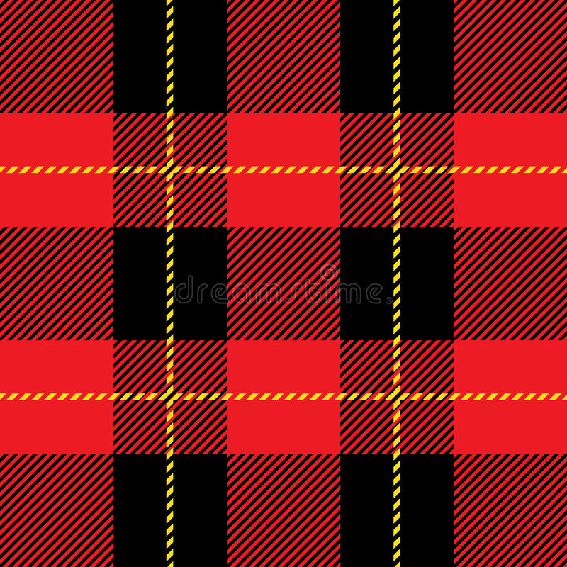 Red seamless tartan plaid pattern stock illustration