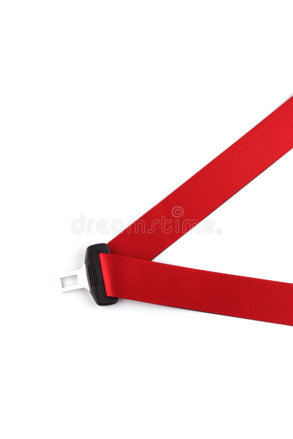 Download Red Seat Belt With A Fastener Stock Photo - Image: 10897724