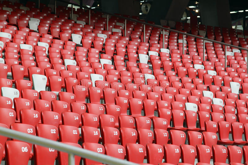 Red Seat At Stadium Editorial Photography