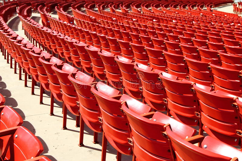 Red Seats stock image