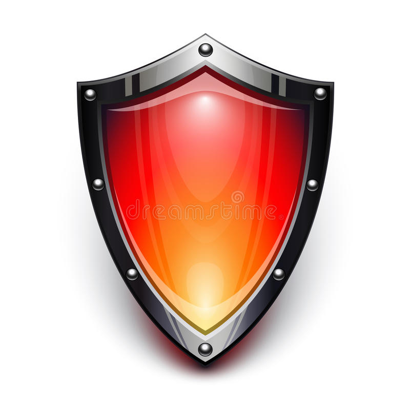 Download Red security shield stock vector. Image of white, protection - 26831817