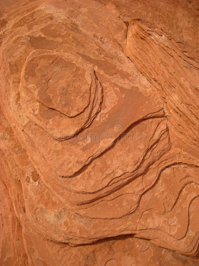 Red Sedimentary Rock Texture Stock Photos