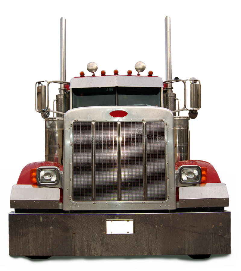 Free Red Semi Truck Royalty Free Stock Image - 2483876