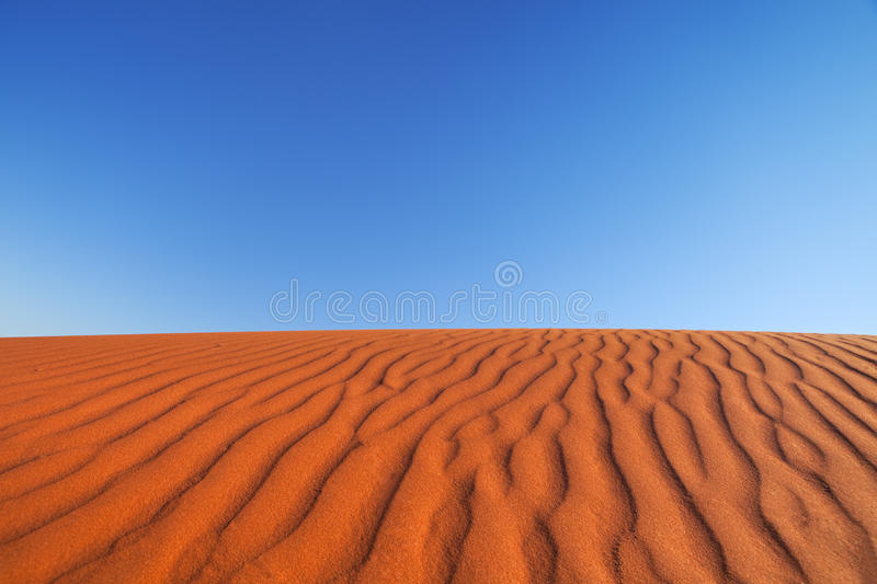 Red sand dune on a clear day, Northern Territory, Australia stock image