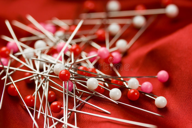 Red sewing background stock photos