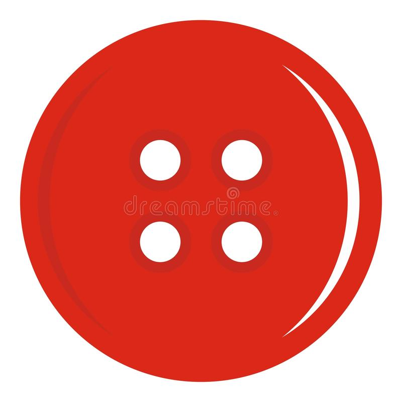 Free Red Sewing Button Icon Isolated Stock Photos - 90977173