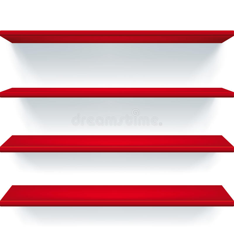 Red Shelves Royalty Free Stock Images