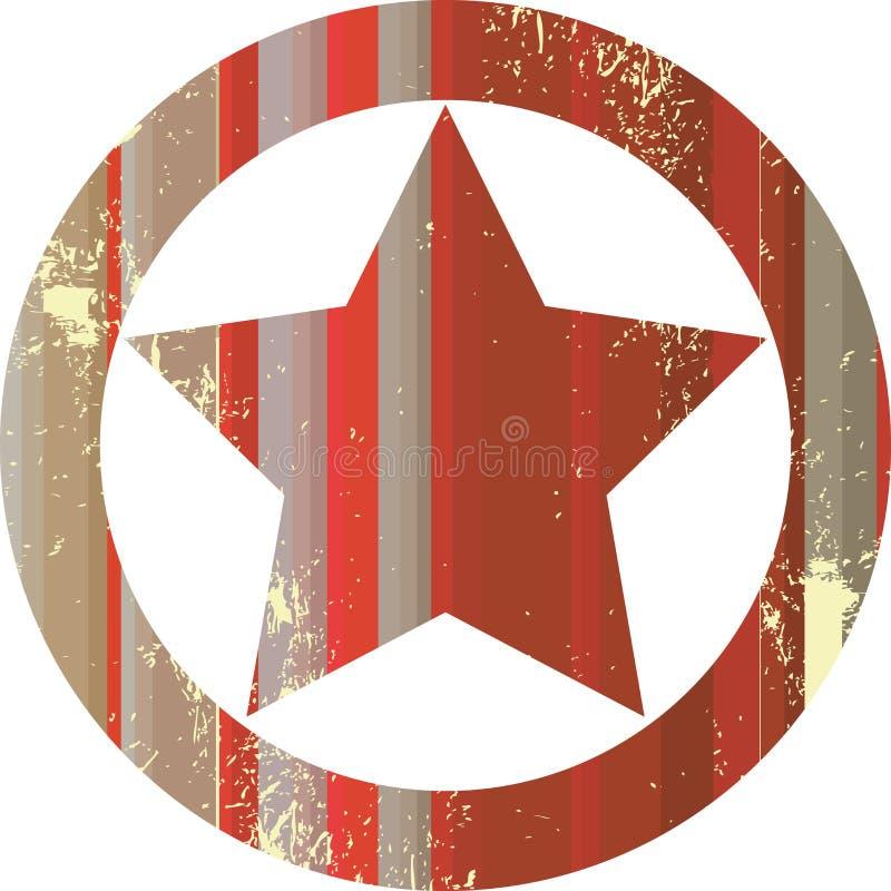 Red sheriff star. Vector art royalty free illustration