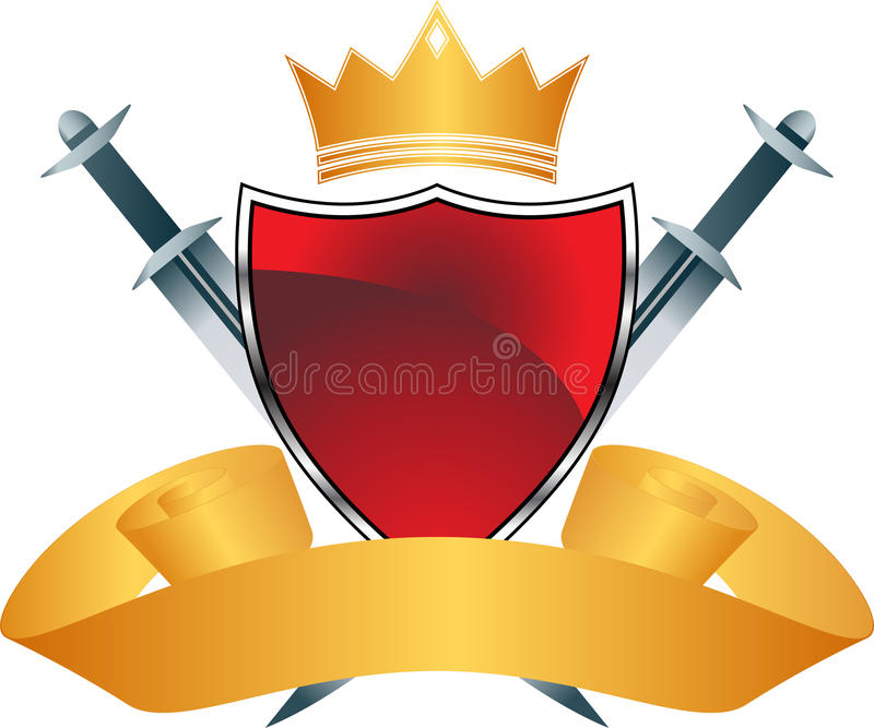 Red Shield with Crown