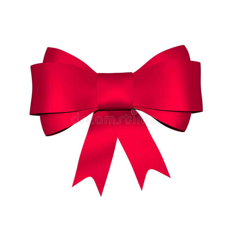 Red Shiny Bow Stock Illustration