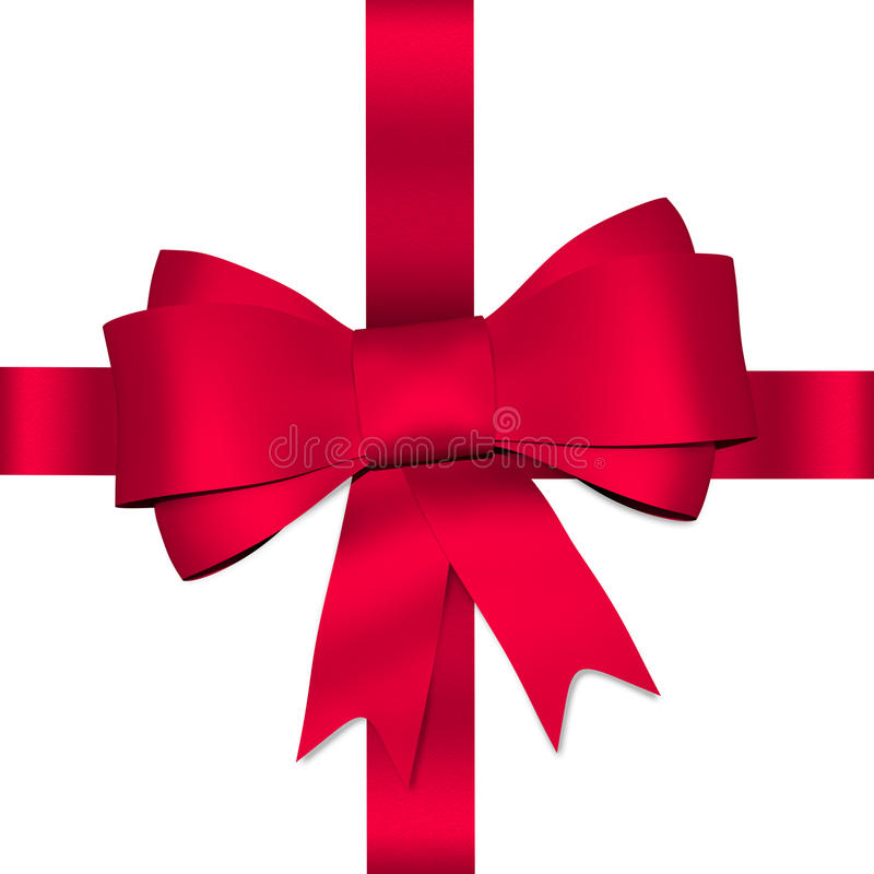 Free Red Shiny Bow With Ribbon Royalty Free Stock Photography - 42190437