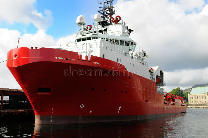 Red ship royalty free stock photo