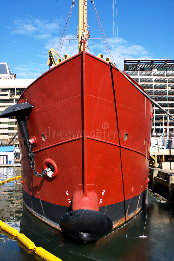 Red ship. Baltimore. Maryland royalty free stock images