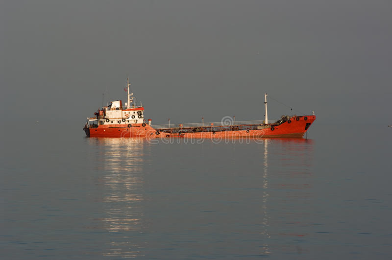 Red Ship Breakdown Royalty Free Stock Image