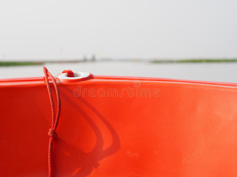 Red ship stock photo
