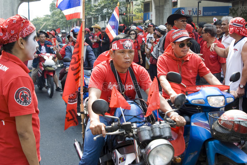 Download Red Shirt Protest - Bangkok Editorial Stock Image - Image: 17967069