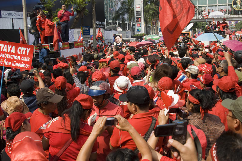 Download Red Shirt Protest - Bangkok Editorial Stock Image - Image: 17967559