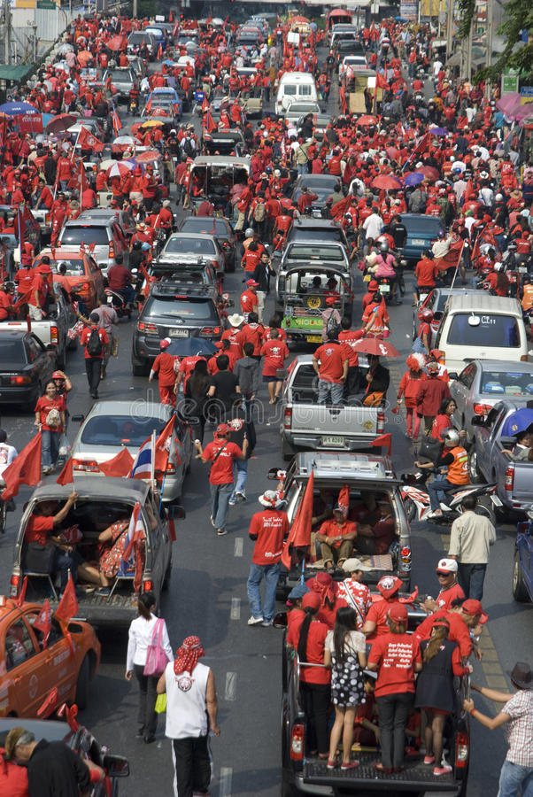 Red Shirt Protest - Bangkok