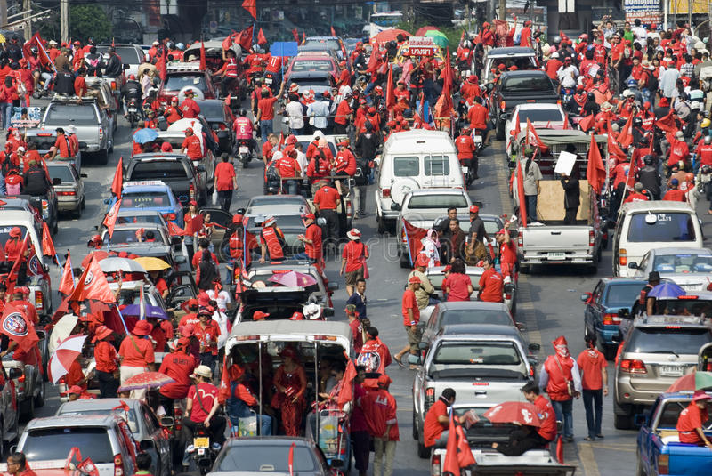 Download Red Shirt Protest - Bangkok Editorial Image - Image: 17968025