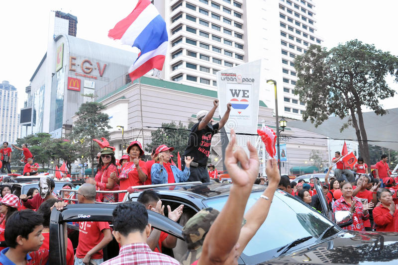 Download Red-Shirt Protest In Bangkok Editorial Image - Image: 19660605