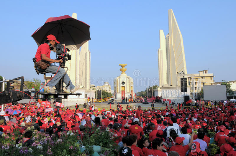 Download Red-Shirt Protest In Bangkok Editorial Image - Image: 20586955