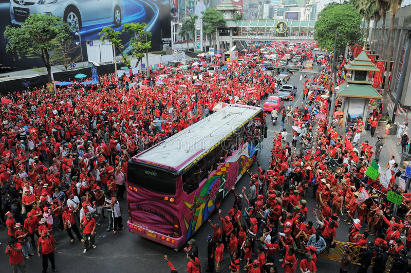 Download Red-Shirt Protest In Central Bangkok Editorial Photography - Image: 20587207
