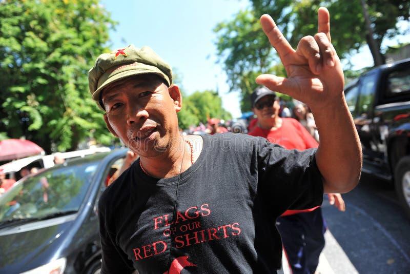 Download Red Shirt Protest editorial stock photo. Image of bangkok - 30880313