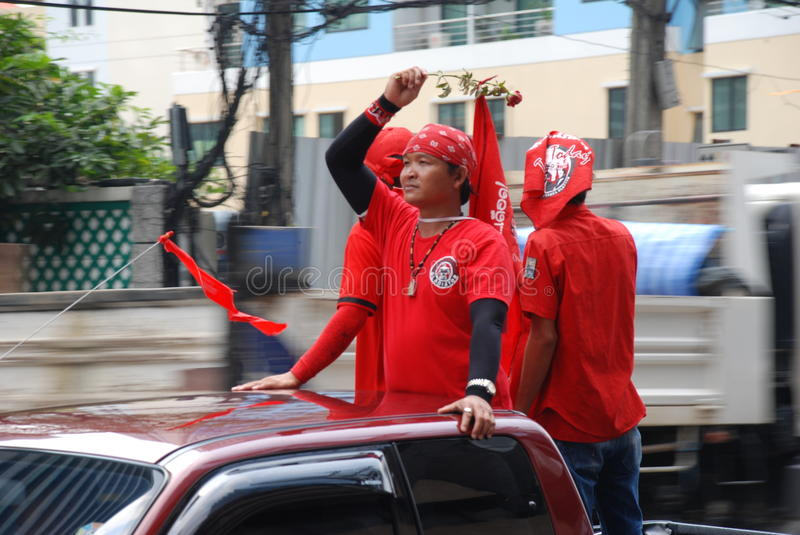Download Red Shirt Protestor With Rose In Hand Editorial Photography - Image: 17705692
