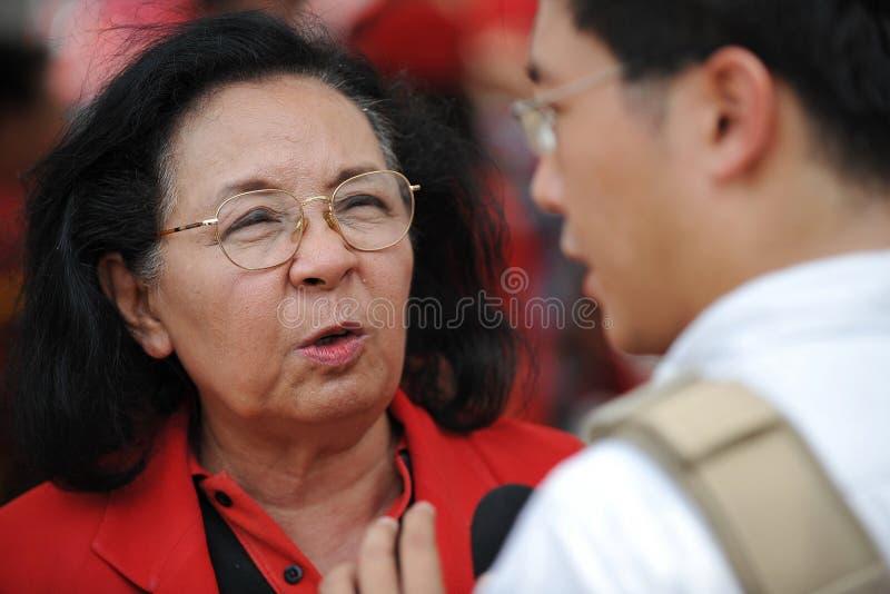 Download Red Shirt Rally In Bangkok Editorial Stock Photo - Image: 30342333