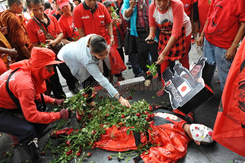 Download Red Shirt Rally in Bangkok editorial photo. Image of muramoto - 30343071