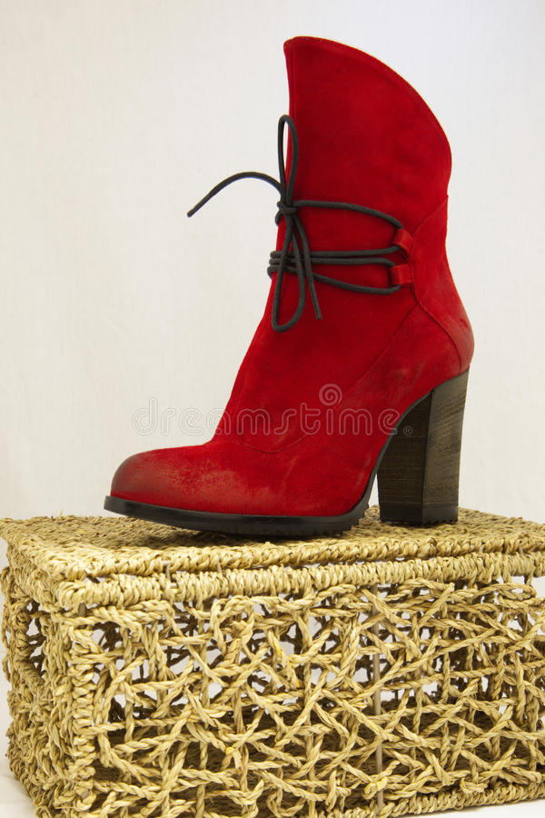 Download Red shoe stock photo. Image of lieshout, shoelace, martin - 26824284