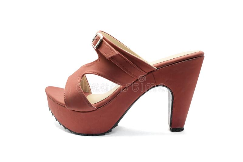 Red shoes high heels isolated on a white background. Object with clipping path stock images