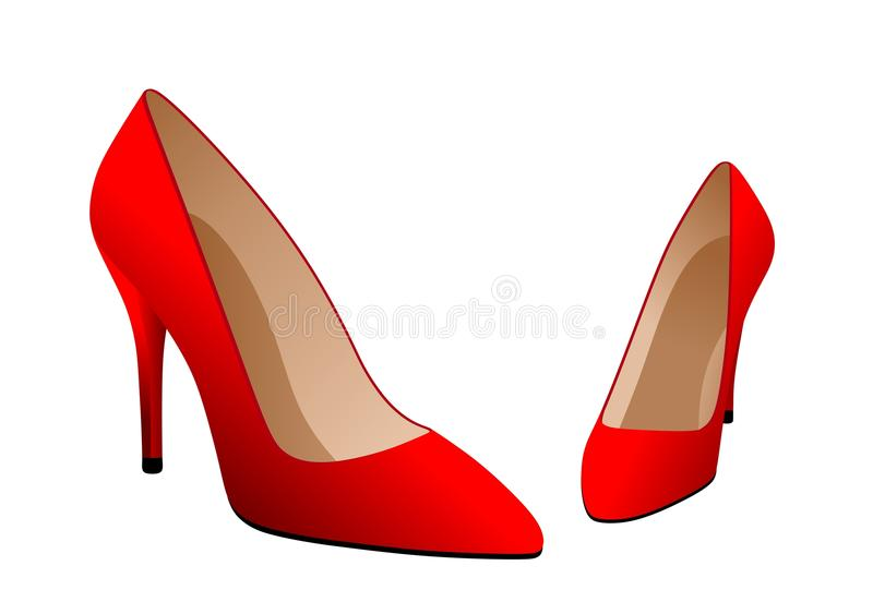 Red shoes vector illustration