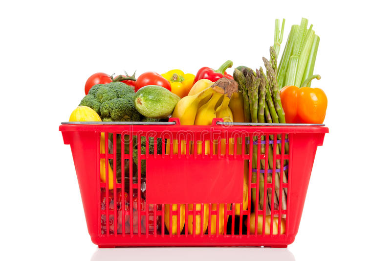 Download A Red Shopping  Basket With Vegetables Stock Photo - Image: 11772286