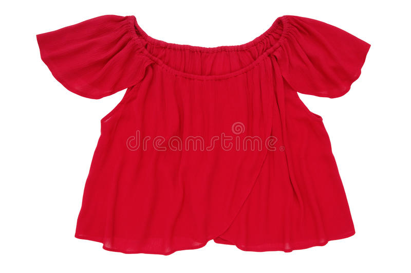 Red short blouse stock photography