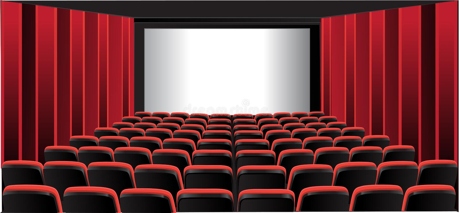 Red showing room; cinema royalty free stock images