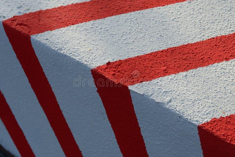 Red Signal Stripes on White royalty free stock photos