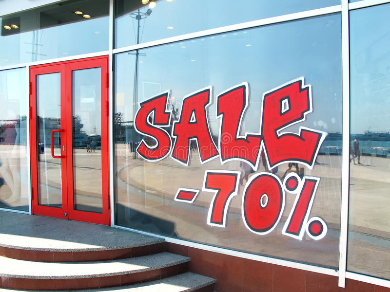 Download Red signboard sale stock photo. Image of background, advertisement - 26364692