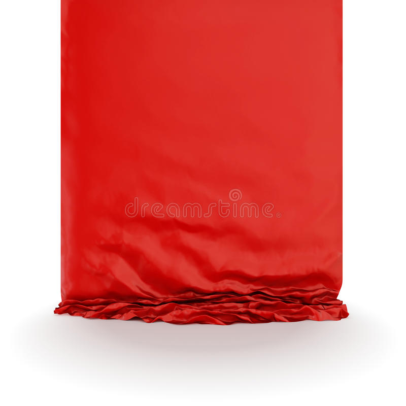 Red silk drapery. Isolated on white background royalty free illustration