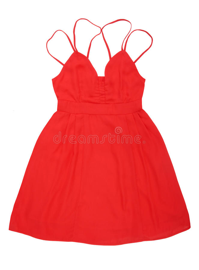Red silk dress royalty free stock photography