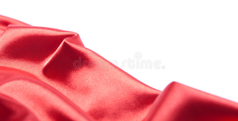 Download Red Silk Fabric Over White Background Stock Photo - Image: 24812888
