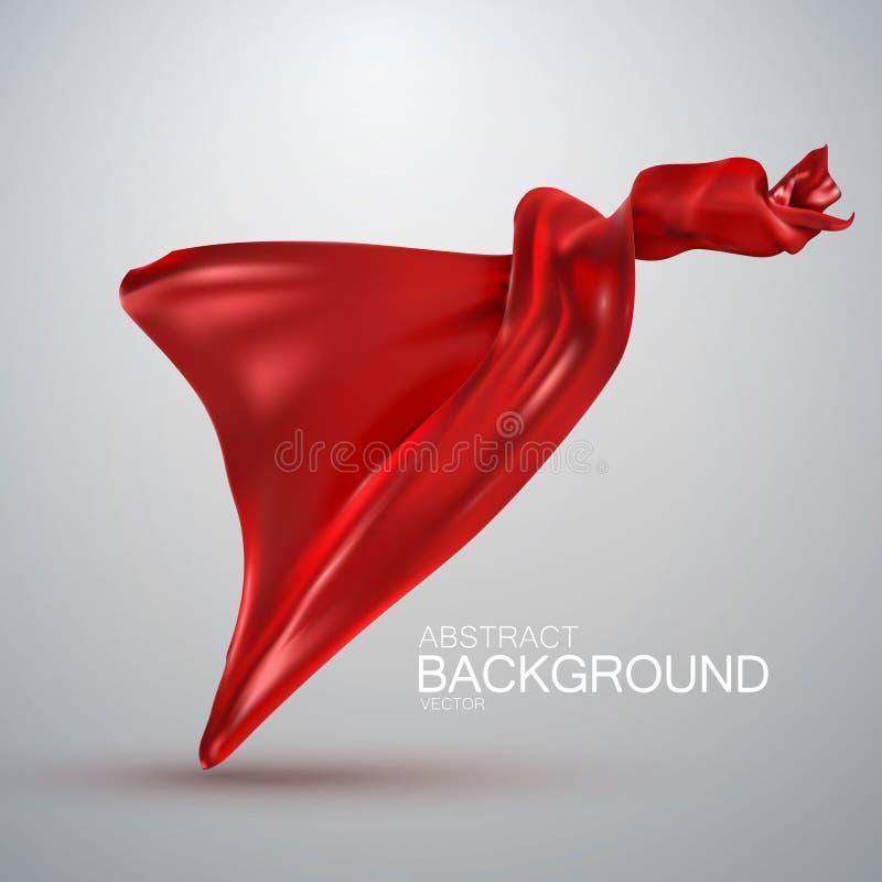 Red silk fabric. stock illustration