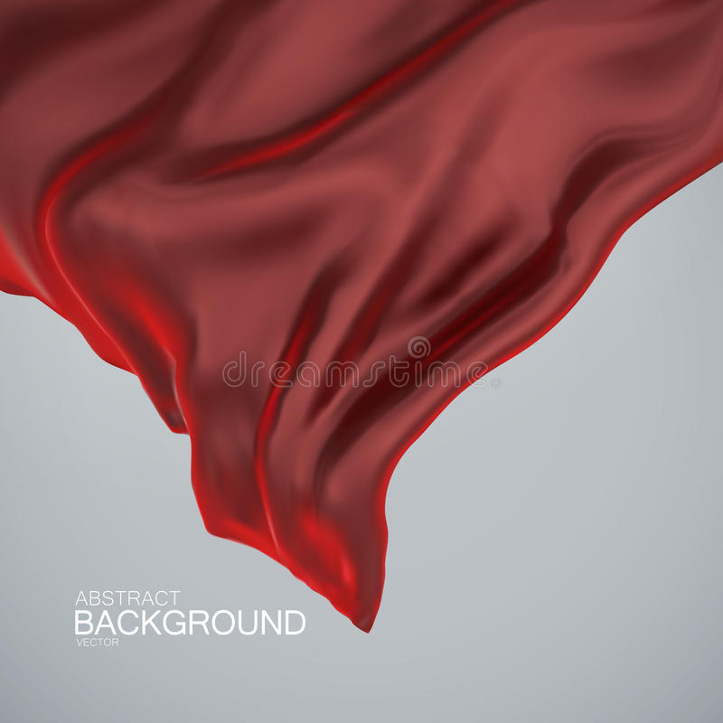 Red silk fabric. royalty free illustration