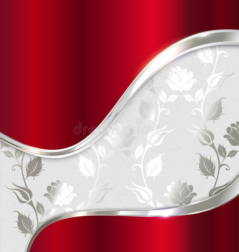 Red And Silver Abstract Background Royalty Free Stock Photo
