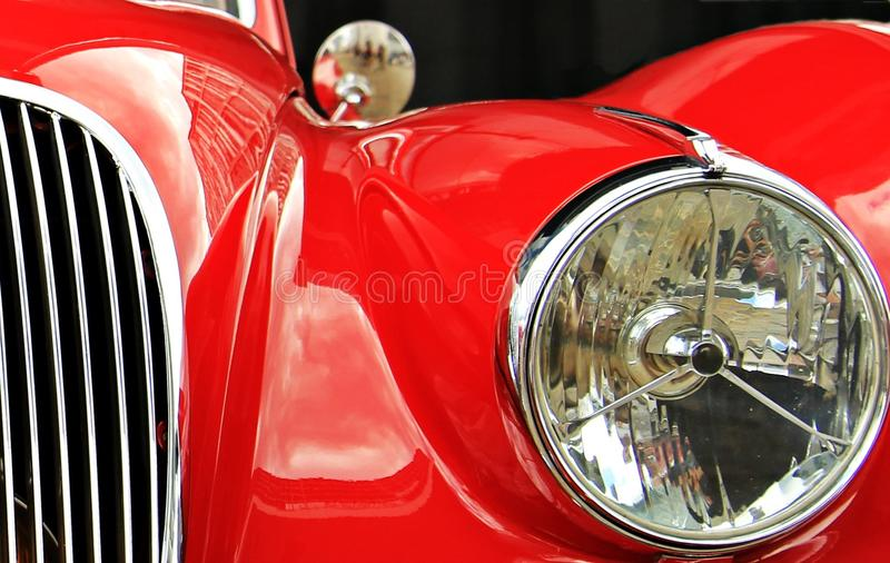 Red and Silver Car stock photography