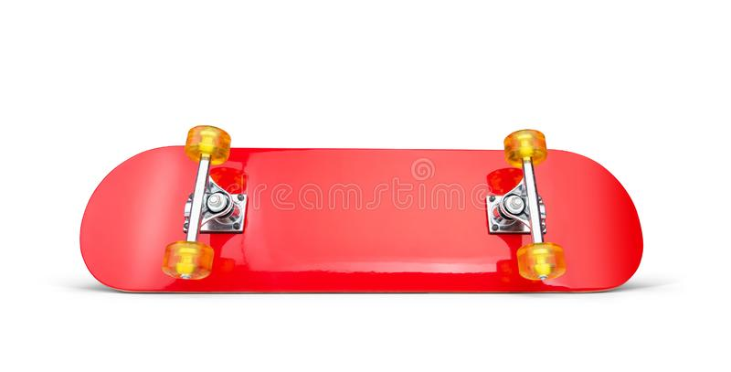 Red skateboard deck, isolated on white background. File contains a path to isolation.  stock photography