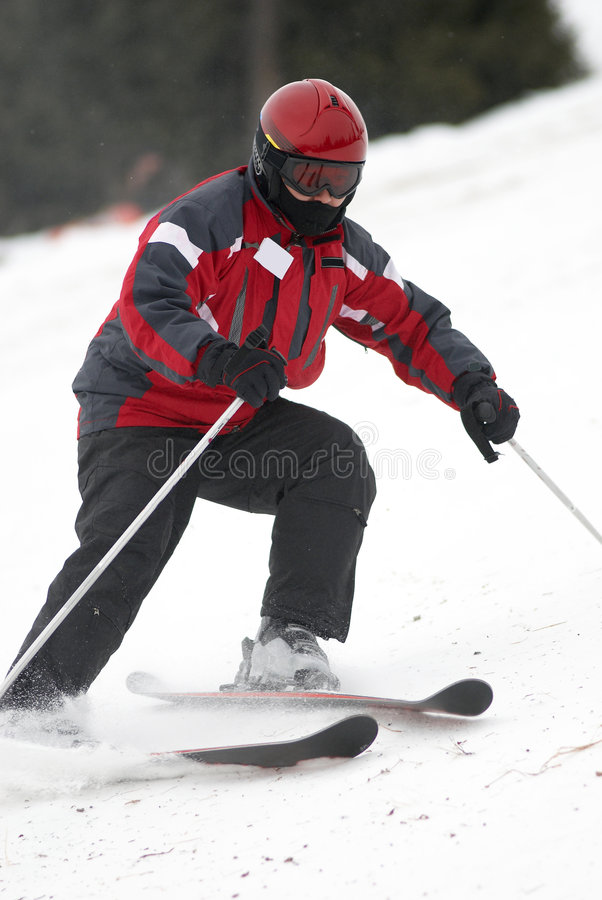 Download Red skier stock image. Image of cold, outdoors, athlete - 1715571