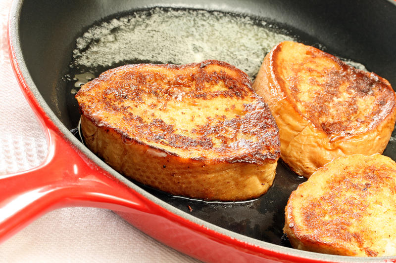 Download Red Skillet French Toast stock image. Image of golden - 14952119