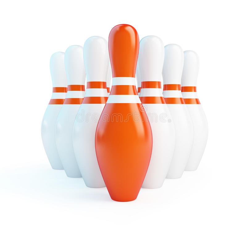 Download Red skittles bowling stock illustration. Image of objects - 28510455