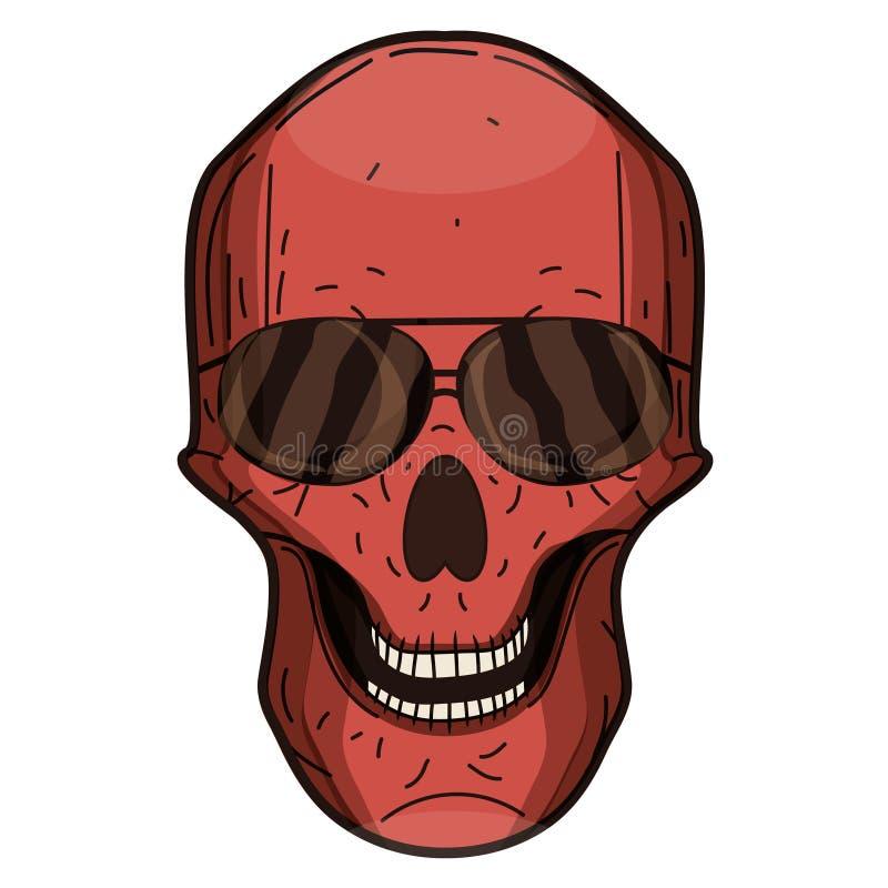 Mens braces flirt skull red